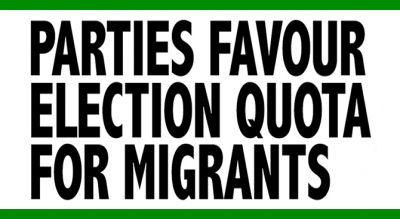 Parties favour election Quota for migrants